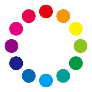 カラーサークルの図