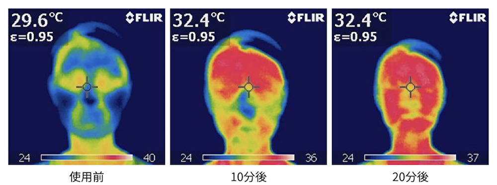 フェヴリナ ナノアクア 炭酸ジェルパックのサーモ画像